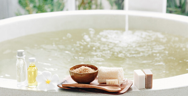 huile essentielle bain