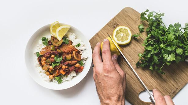 coriandre fraîche recette curry de haricots