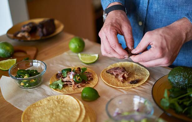 recette tacos maison coriandre fraiche