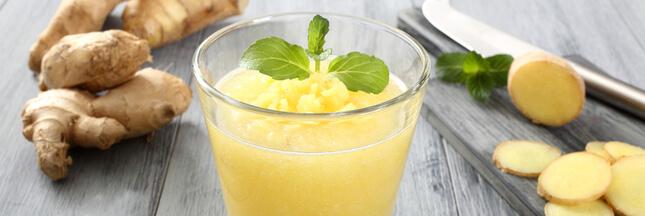 Frais et tonique, le jus de gingembre, un must pour l'été