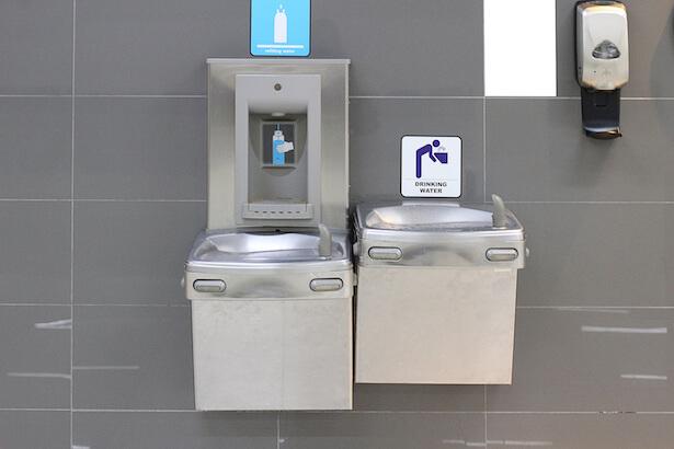 Fontaine d'eau potable aéropot