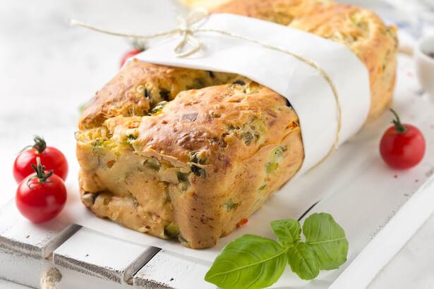 pain de courgettes au basilic
