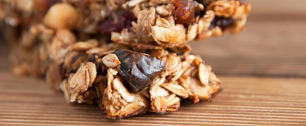 biscuits riche en fruits, barre de céréales aux fruits