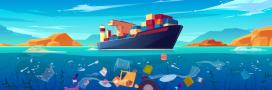 Déchets plastiques, rejets de soufre: les navires polluent les océans
