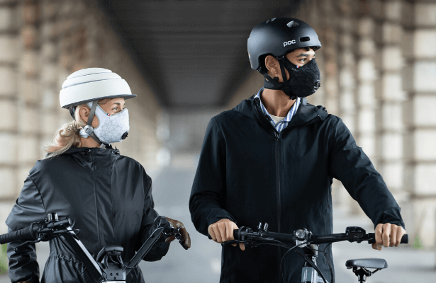 masque antipollution cycliste