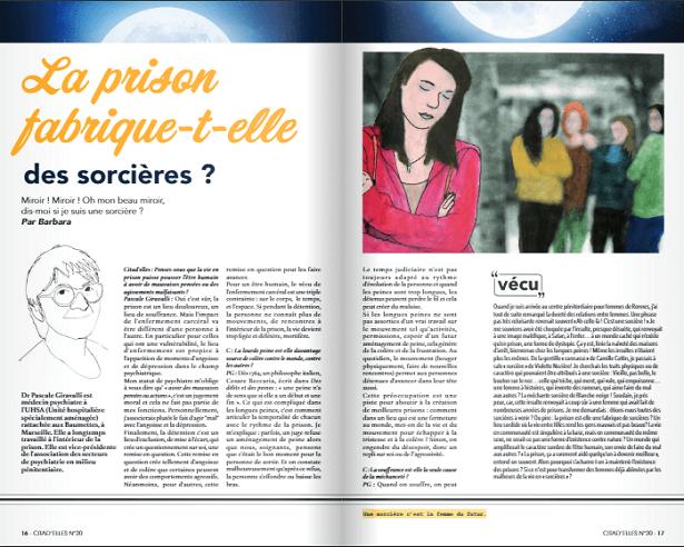 prison de femmes, magazine féminin, citad'elles