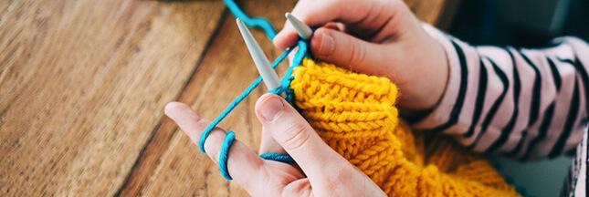 Laine à tricoter: le tricot passe au vert