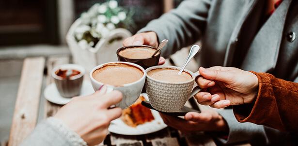 terrasse de café chauffée