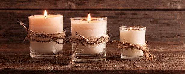 bougies parfumées naturelles