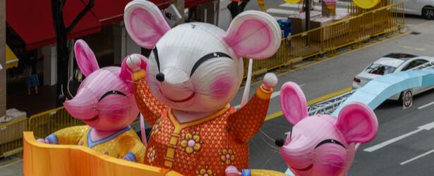 A Zodiaque chinois année du Rat