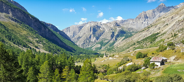 vallée de l'ubaye alpes neige ski