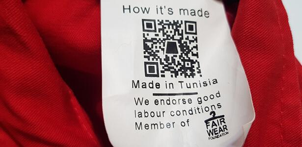 étiquette vêtement éthique