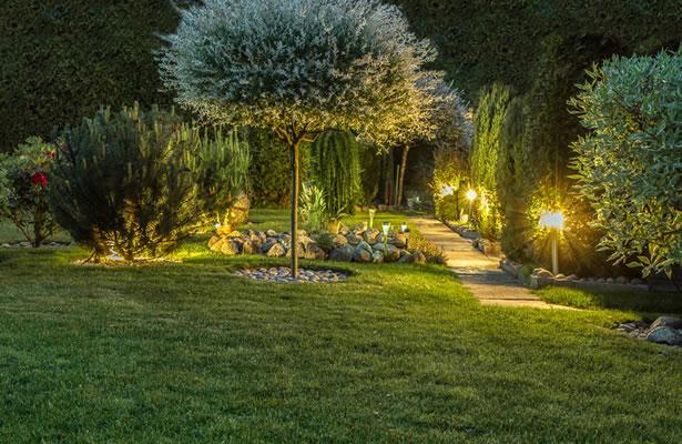 Créer une ambiance au jardin avec des LED