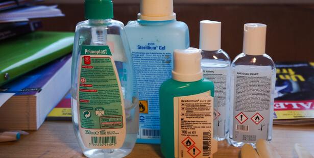 efficacite gel hydroalcoolique virus
