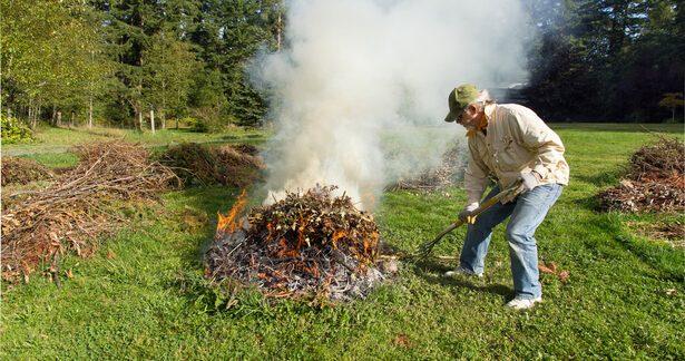brûler des déchets verts