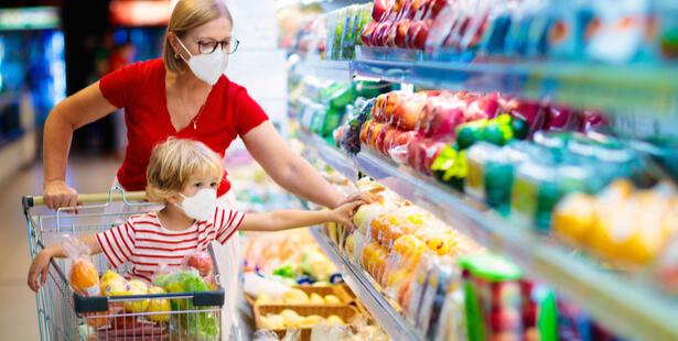 supermarché stock confinement