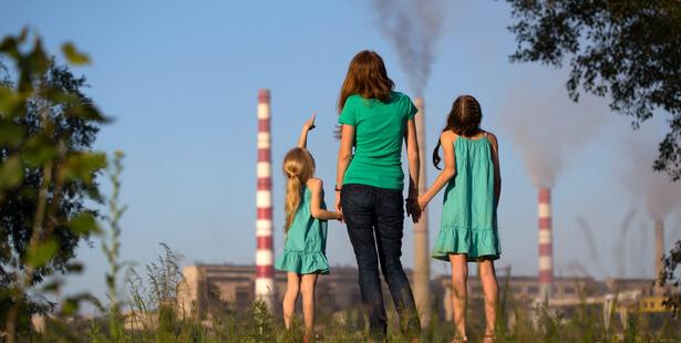 pollution air enfant