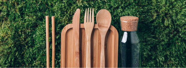 vaisselle en fibres de bambou