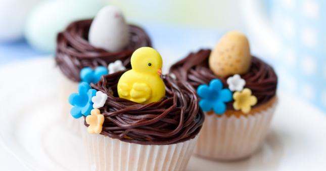 Nids de Pâques – De petits cupcakes de saison