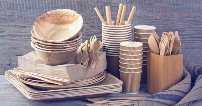 Vaisselle jetable sans plastique: pas si inoffensive et écolo que ça!